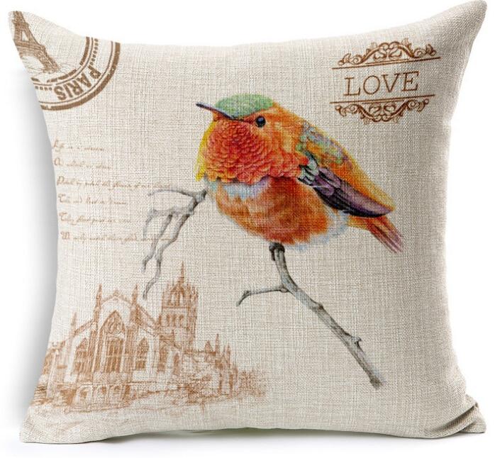 Aliexpresscom Buy bird cushion cover almofadas vintage french