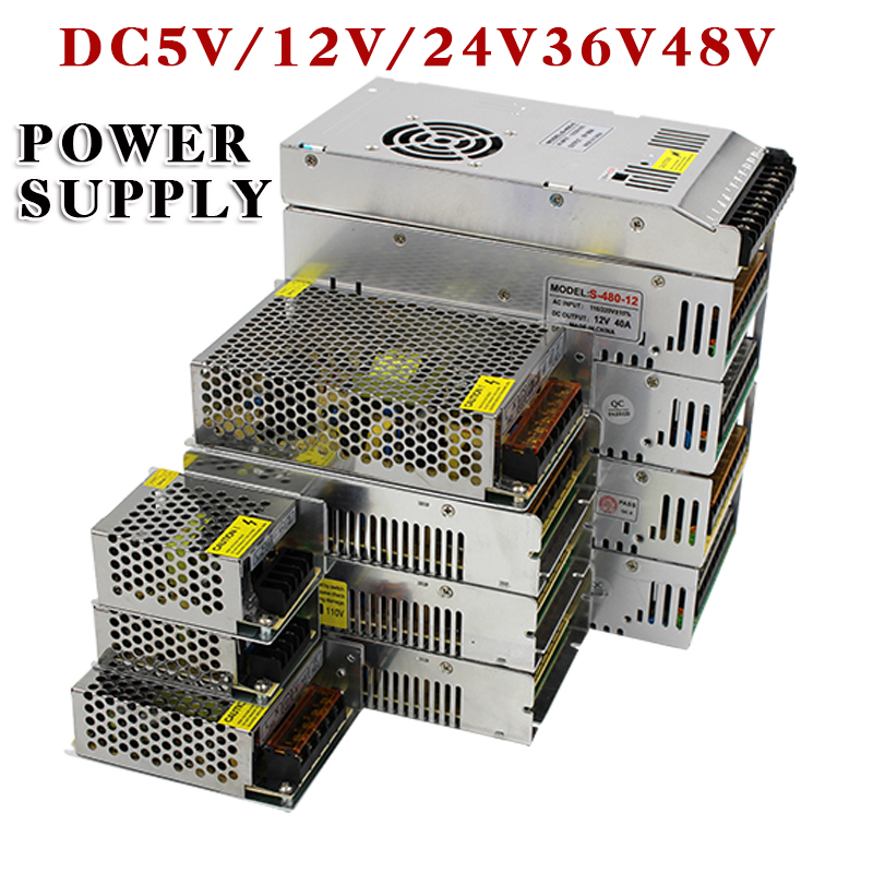 Heißer Verkauf AC85-265V 110 v 220 v zu DC5V 12 v 24 v 36 v 48 v 1A 2A 3A 5A 10A 15A 20A 30A 40A 80A CCTV/LED Streifen Netzteil Adapter