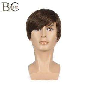 Image 5 - BCHR Breve Rettilineo Uomini Sintetici Parrucca per il Maschio Parrucche di capelli Naturali di Colore Marrone di Trasporto libero PARRUCCHE Toupet
