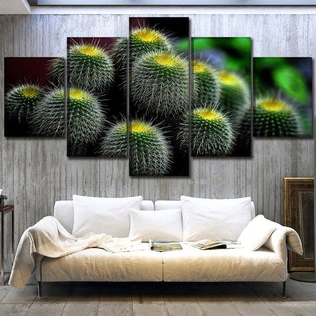 Wall Art Canvas Hd Prints Greenery Painting Decor Framework 5 Piece