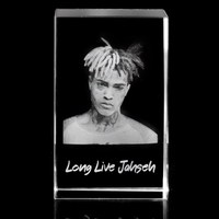 XINTOU 3D Laser Engraved Crystal Cube Ornament Exclusive 3D Long Live Jahseh Figurines Glass Cube Souvenir Gift