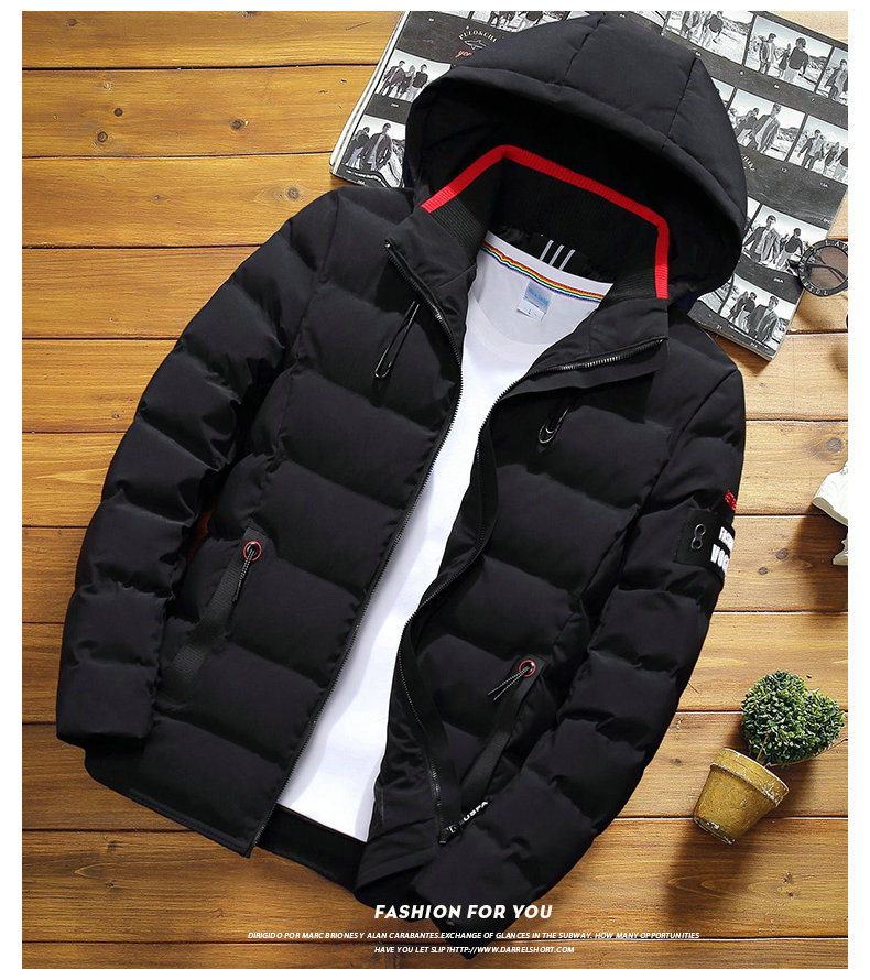 drop shipping New Fashion Men Winter Jacket Coat Hooded Warm Mens Winter Coat Casual Slim Fit Student Male Overcoat ABZ82 12
