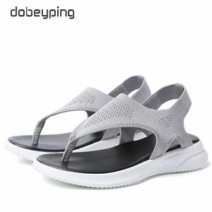Image 4 - แฟชั่นตาข่ายผู้หญิงรองเท้าแตะรองเท้าแตะผู้หญิงรองเท้าผู้หญิงฤดูร้อน Cool Beach แฟลตหญิงขนาดใหญ่ขนาด 35 45