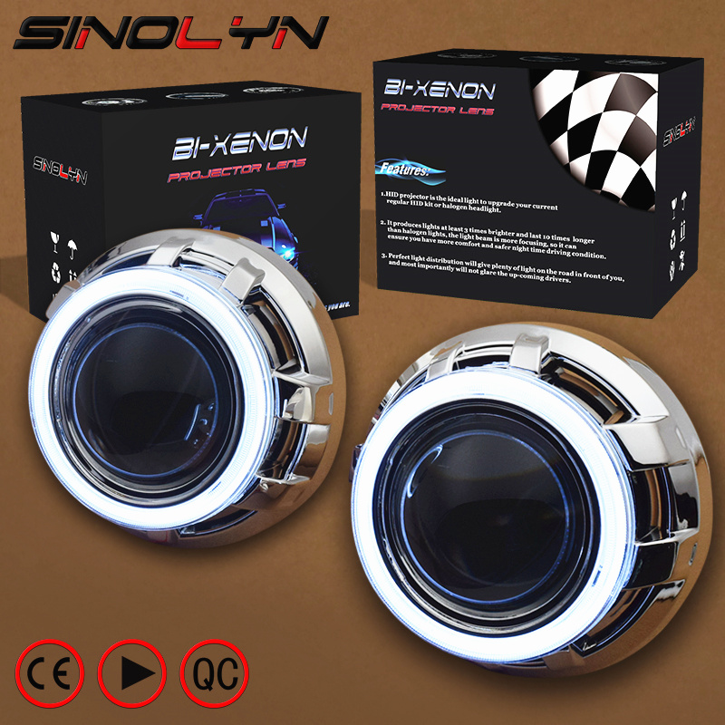 SINOLYN 3.0 Pro HID Bi xenon Lenses Headlight Car Projector Lens COB LED Angel Eyes Halo DRL Headlamp Retrofit DIY Car-styling stainless steel manual slice tomato fruits and vegetables more chopper slice cutting machine