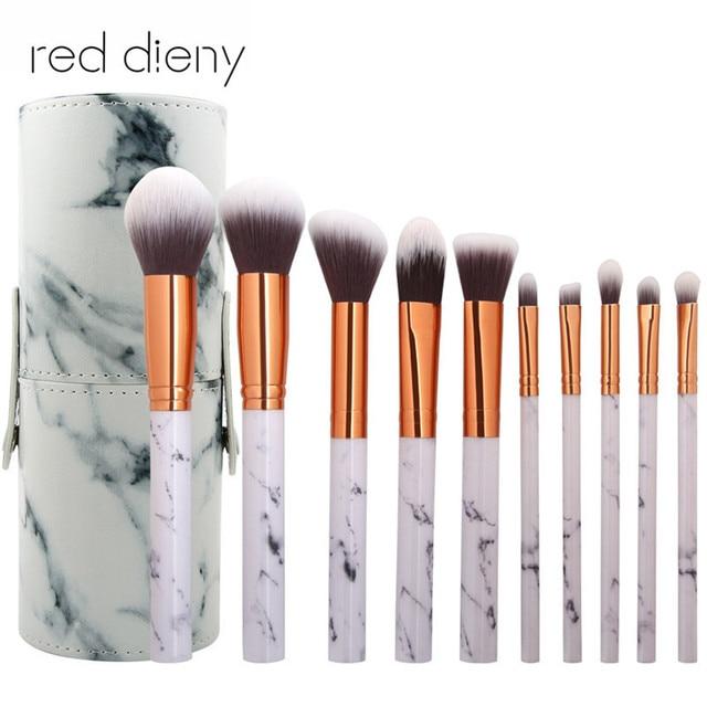 Pro Marble Stripe Cosmetic Portable Makeup Brushes Soft Makeup Brush Set  Foundation Powder Brush Beauty Maquiagem