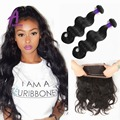 360 Lace Frontal With Bundle 2pcs Malaysian Body Wave 360 Lace Frontal Closure With Bundles Malaysian Virgin Hair With Closure