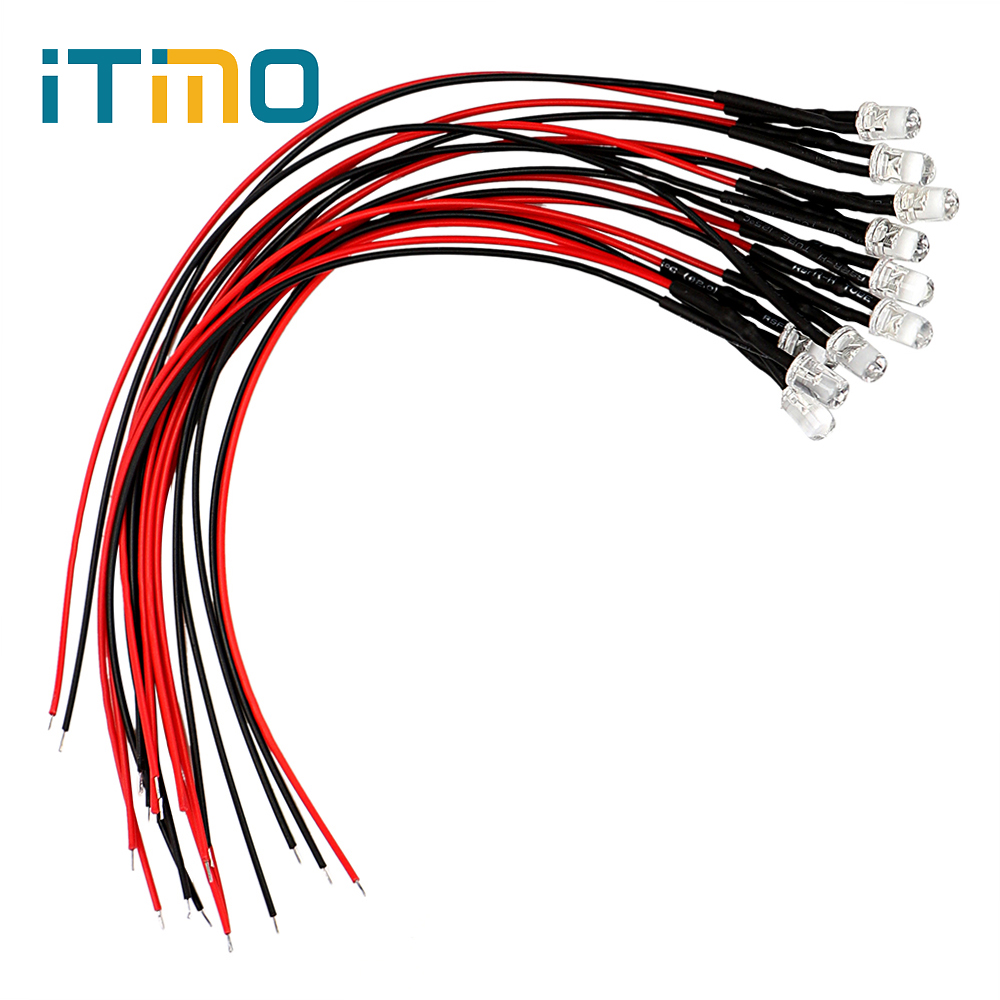 Hot Sale Itimo Light Bulbs Tube Dc 12v Led Lamp 10pcs Set Energy Home Wiring Saving Lighting Portable Emitting Diode 5mm 4 Colors