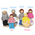 6pcs/lot Cute Wooden House Family People Dolls Kids Children Pretend Play Toys Gift