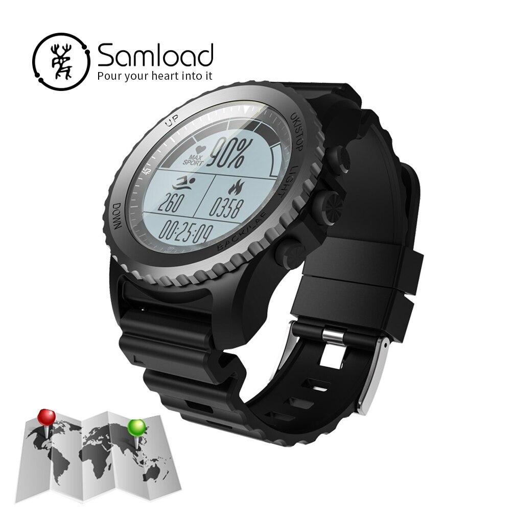 Samload iP68 Intelligente Orologio GPS Professionale Wristband di Sport di Frequenza Cardiaca Tracker Monitoraggio del Sonno Orologio Per Il Triathlon iPhoneSE 7 8