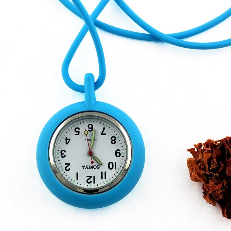 Médicos de moda relogio feminio largo silicona correa envoltura jalea médico enfermera fob silicona bolsillo reloj luminoso mano libre logo