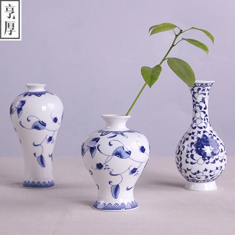Vintage chinese ceramic vase en Porcelaine Home Decor Bleu /& Blanc Fleur Réceptacle