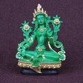 Зеленая Тара, тантрический статуи, смола статуэтки, статуя будды, буддизм, буддист, фигура, фигурка, о 13.5 СМ высота ~