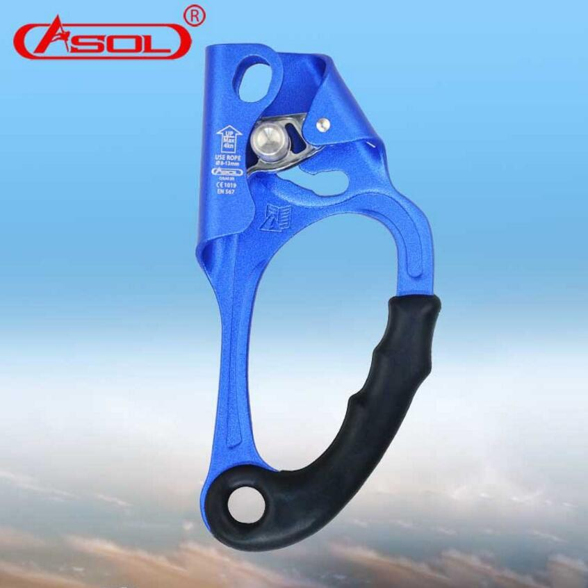 ASOL Professional Outdoor Rock Climbing Right Hand Grasp hand ascender Ascending Device Mountaineer Riser