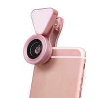 Cell Phone Camera Kit 3 In 1 15x Macro Lens Clip On Fill Light Wide Angle
