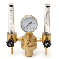 Argon CO2 Gauge Pressure Regulator Mig Tig Flow Meter Control Valve Welding Gas Double Tube Bubble Counter Aquarium Flowmeter