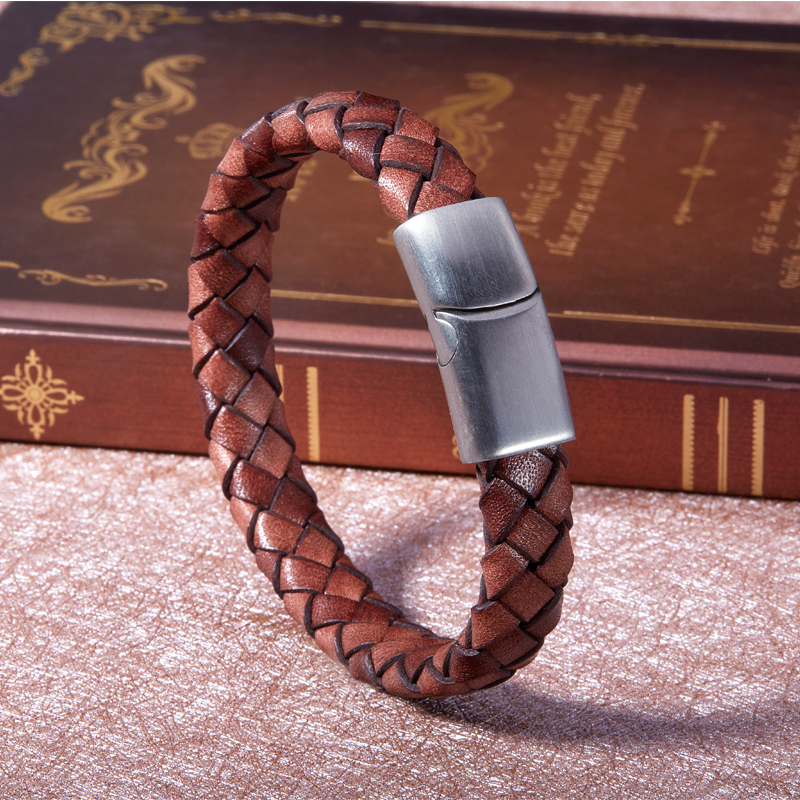 Charm bracelet wrap Weave Genuine leather bangle charm winter leather bracelet jewelry christmas gift