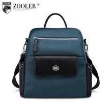 ZOOLER marca nylon bagpack couro genuíno bolsas de ombro para senhora à moda mulheres saco do desenhador bolsa feminina #8388