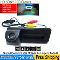 SONY CCD night viosn car trunk handle reverse parking rearview camera for Skoda Roomster Fabia Octavia Yeti superb for Audi A1