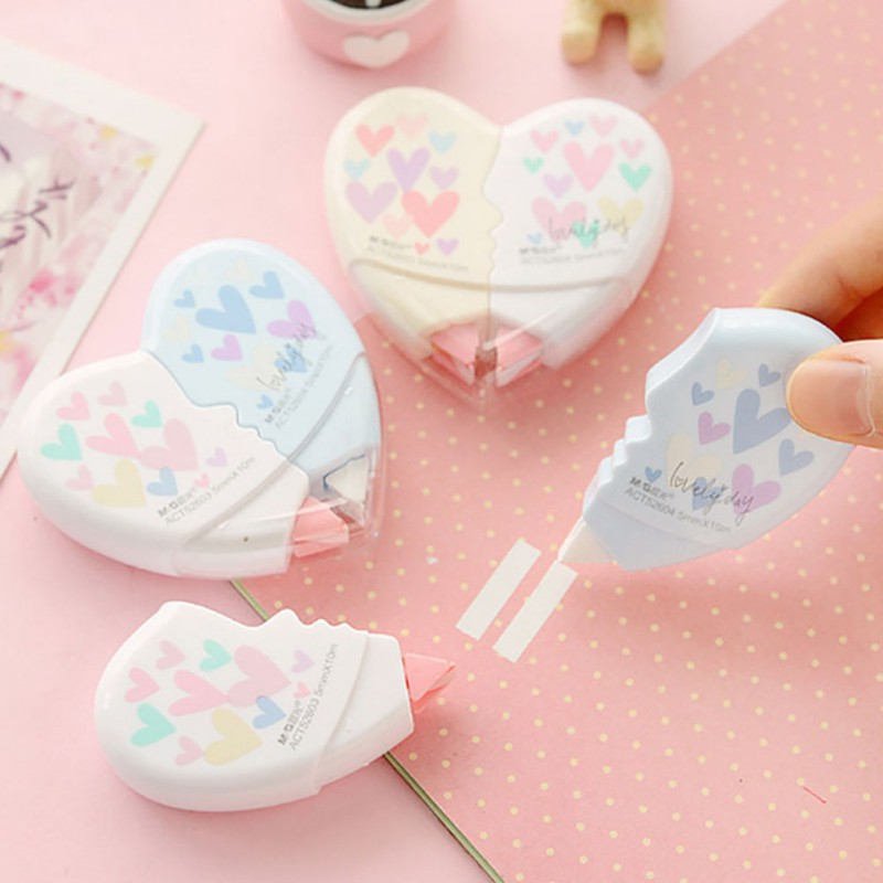 Material Escolar Kawaii Stationery Office School Supplies Papelaria Children Cute Gift For Baby Kids Love Heart Correction Tape