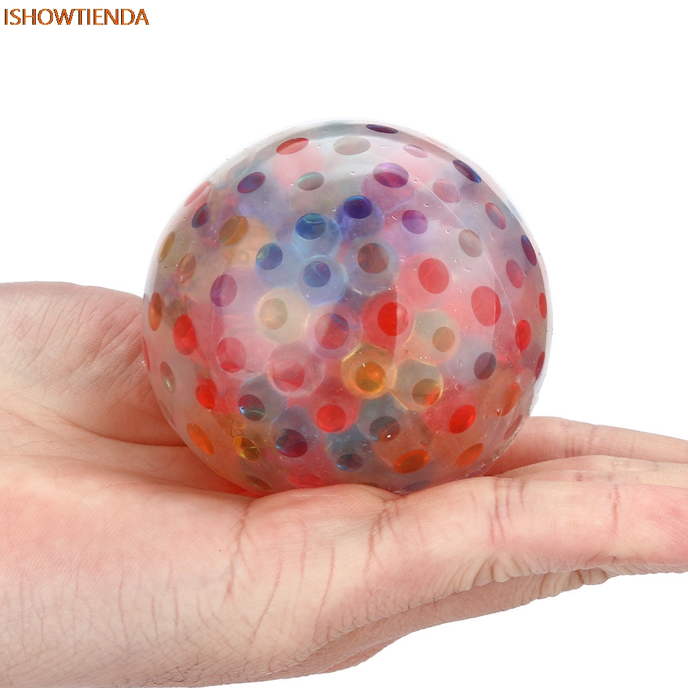 Spongy Rainbow Ball Toy Squeezable Stress Squishy Toy Stress Relief Ball For Fun Stress Relief Squishy Drop Shipping цена 2017