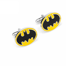 27d38945c0e8 DC Comics Jewelry Batman Oval Cufflinks Bat Logo Pattern Cuff Links Buttons  pins