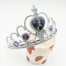 HOT crown frozen Ice And Snow Princess/Anna Elsa Cartoon Theme Headwear Baby Shwer Favor birthday party decorations kids