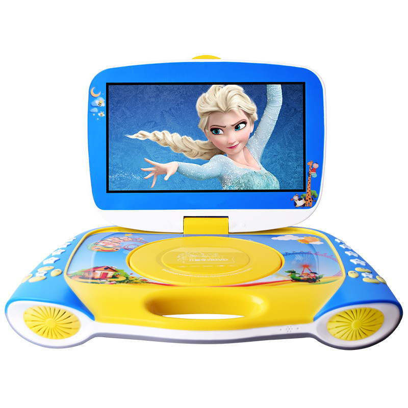 Mobile DVD player portable evd children 12 inch learning early education machine HD video Card U disk Discs Play lithium battery 9 8 inch lcd screen digital multimedia portable evd dvd with tv avi cd r rw peg 4 game function 270 degree rotation hd player