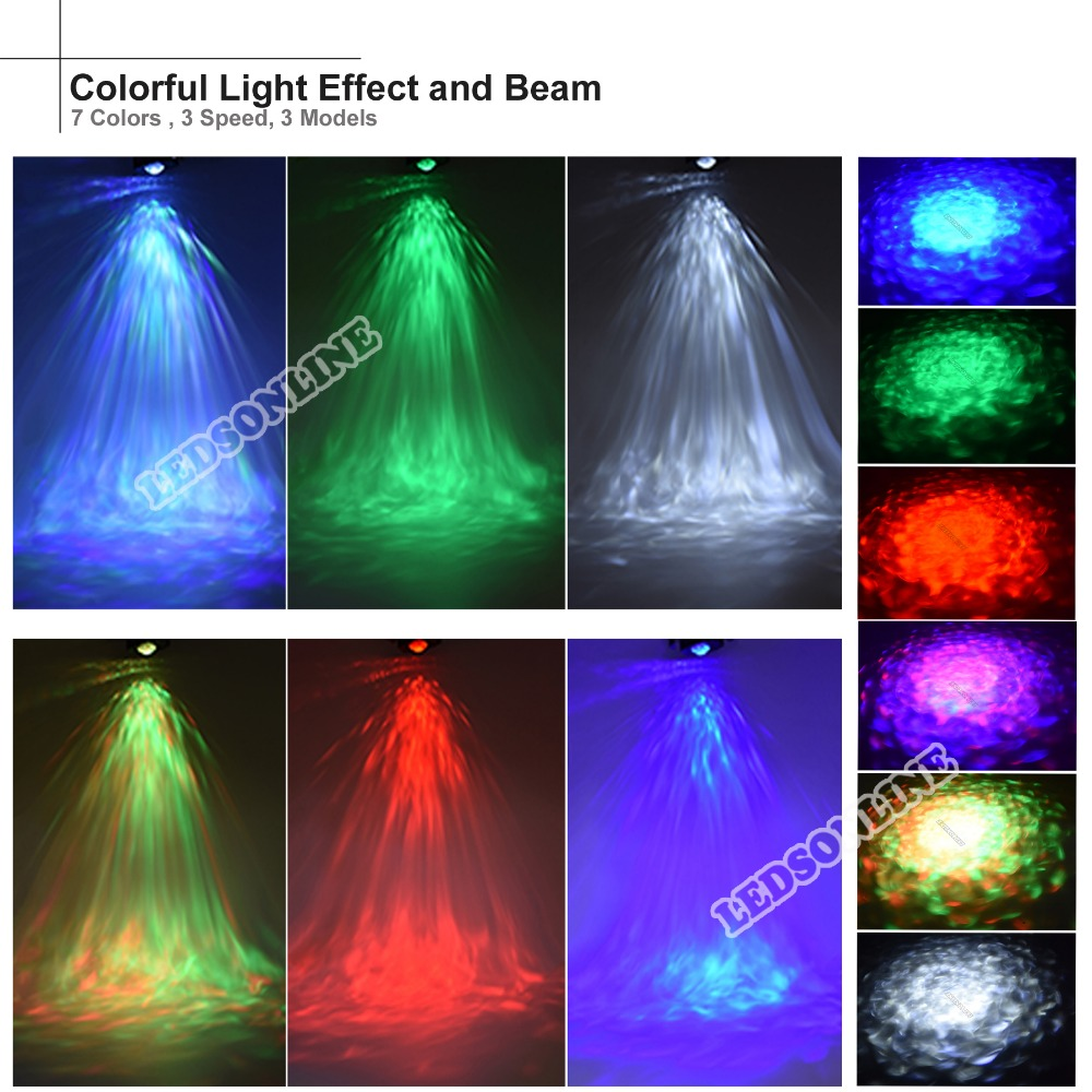Hot sale Video Ripple Effect Light Projector with 7 Colors 3 Modes 3 Speeds IR Remote Control for home party wedding holiday in Stage Lighting Effect from Lights Lighting