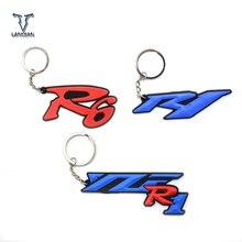 Universal รถจักรยานยนต์ Key CHAIN พวงกุญแจยางนุ่มกุญแจรถจักรยานยนต์สำหรับ Yamaha YZF R1 R6