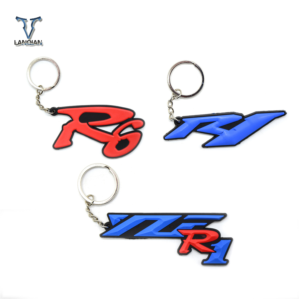Universal Motorcycle Key Chain Keyring Soft Rubber Motorcycle Key Ring For Yamaha YZF R1 R6-in Covers & Ornamental Mouldings from Automobiles & Motorcycles