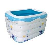 2016 New Children Thicken Inflatable Swimming Pool Babys Piscine Fishing Havuz Paddling Pool PVC PiscinaSize 143*105*75CM