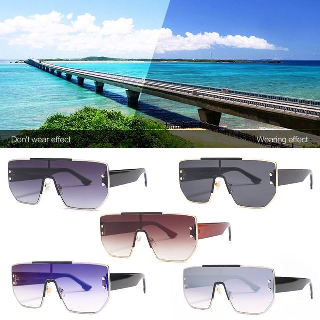 Large Sunglasses One-piece Personality Unique Women Men Cosplay Party Decoration Photography Driving Travel Charms