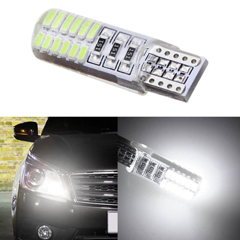 1pcs <font><b>T10</b></font> W5W <font><b>24</b></font> <font><b>SMD</b></font> 5730 Led Silicone Car Light Silica Gel Waterproof Wedge Bulb Parking Lamp 6SMD 5630 LED Auto Marker Light 12 image