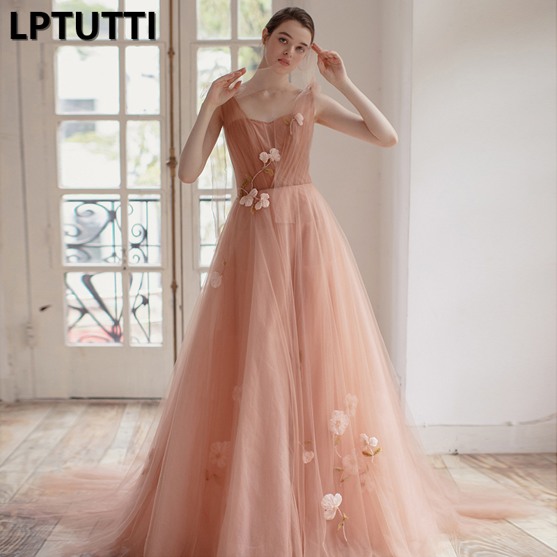 LPTUTTI Appliques Gratuating New For Women Elegant Date Ceremony Party Prom Gown Formal Gala Luxury Long   Evening     Dresses