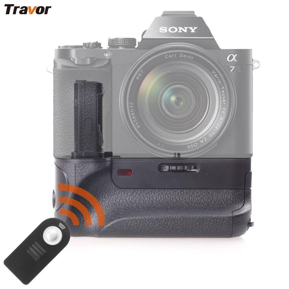 Travor Batterie Vertical Holder Grip Pour SONY A7 A7R A7S DSLR Caméra Batterie Poignée Remplacement VG-C1EM Travail Avec NP-FW50 Batterie