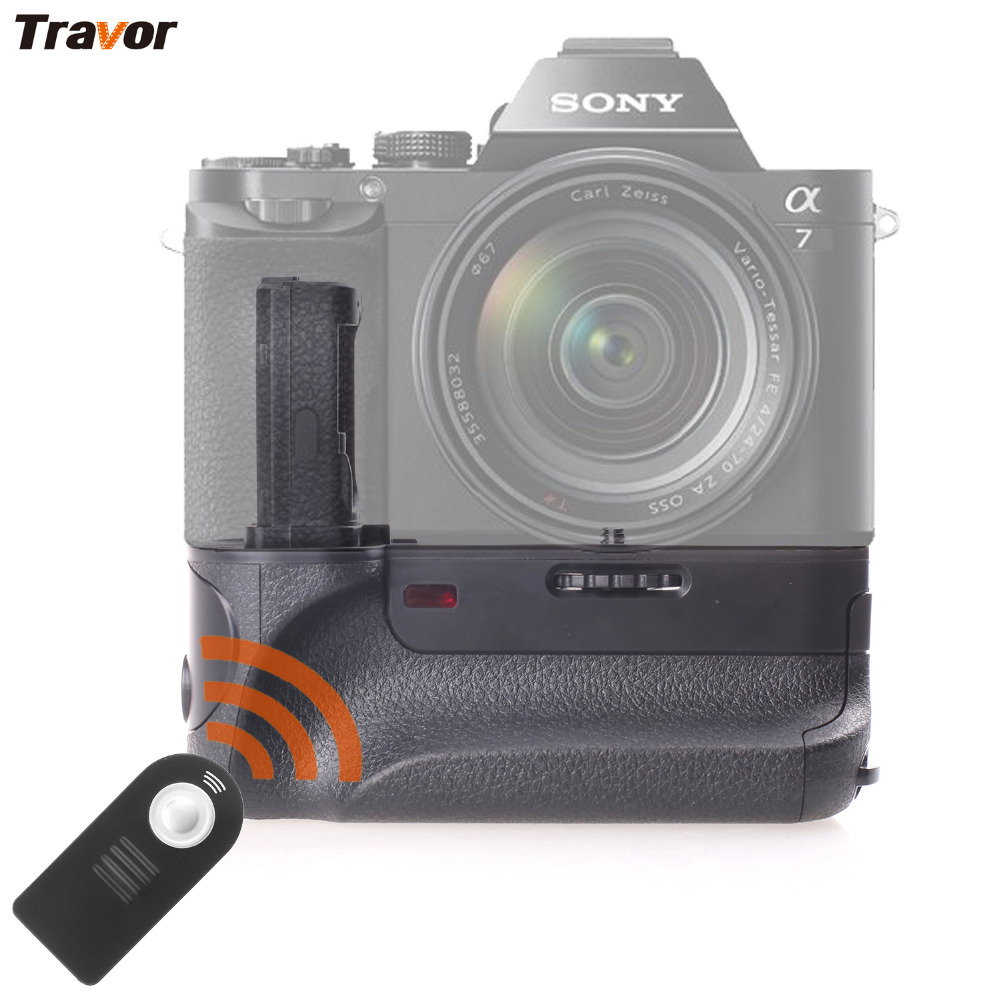 Travor Vertical Battery Grip Holder For SONY A7 A7R A7S DSLR Camera Battery Handle Replacement VG-C1EM Work With NP-FW50 Battery meike wireless control battery grip for sony a7 a7r a7s as vg c1em 2 np fw50 battery battery charger
