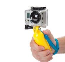 Bobber Yüzer elde tutulan tek ayak Gopro Aksesuarları Için Gopro HERO 4 3 3 2 1 SJCAM SJ4000 Xiaoyi Eylem Kamera Spor Mini DV