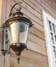 12 Pcs Por Atacado Lâmpada de Parede Arandelas Moderno Lâmpadas de Iluminação de Luz Ao Ar Livre Luzes de Rua Exterior 220Ve27 Rua Retro À Prova D' Água