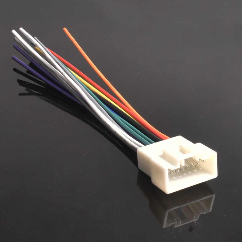 medium resolution of car radio audio cd power wire harness adapter for mitsubishi lancer outlander mirage