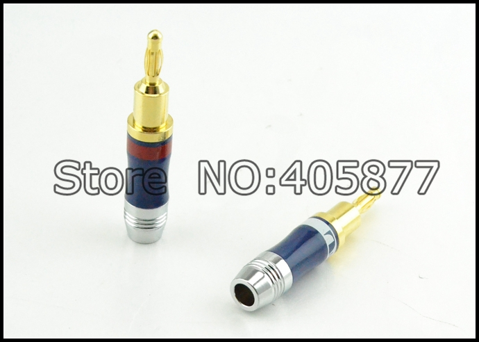 High End Audio Grade Nakamichi AC-205 24k Gold plated Banana plug for DIY Speaker cable  high end audio grade nakamichi ac 205 24k gold plated banana plug for diy speaker cable