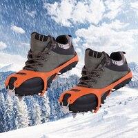 נעלי טיפוס קרח סוליות תלוש אנטי אחיזת קרח סוגריים ספייק גריפ ספייק שרשרת נעלי תפס קרח ההליכה Cleat התפס מעל נעלי