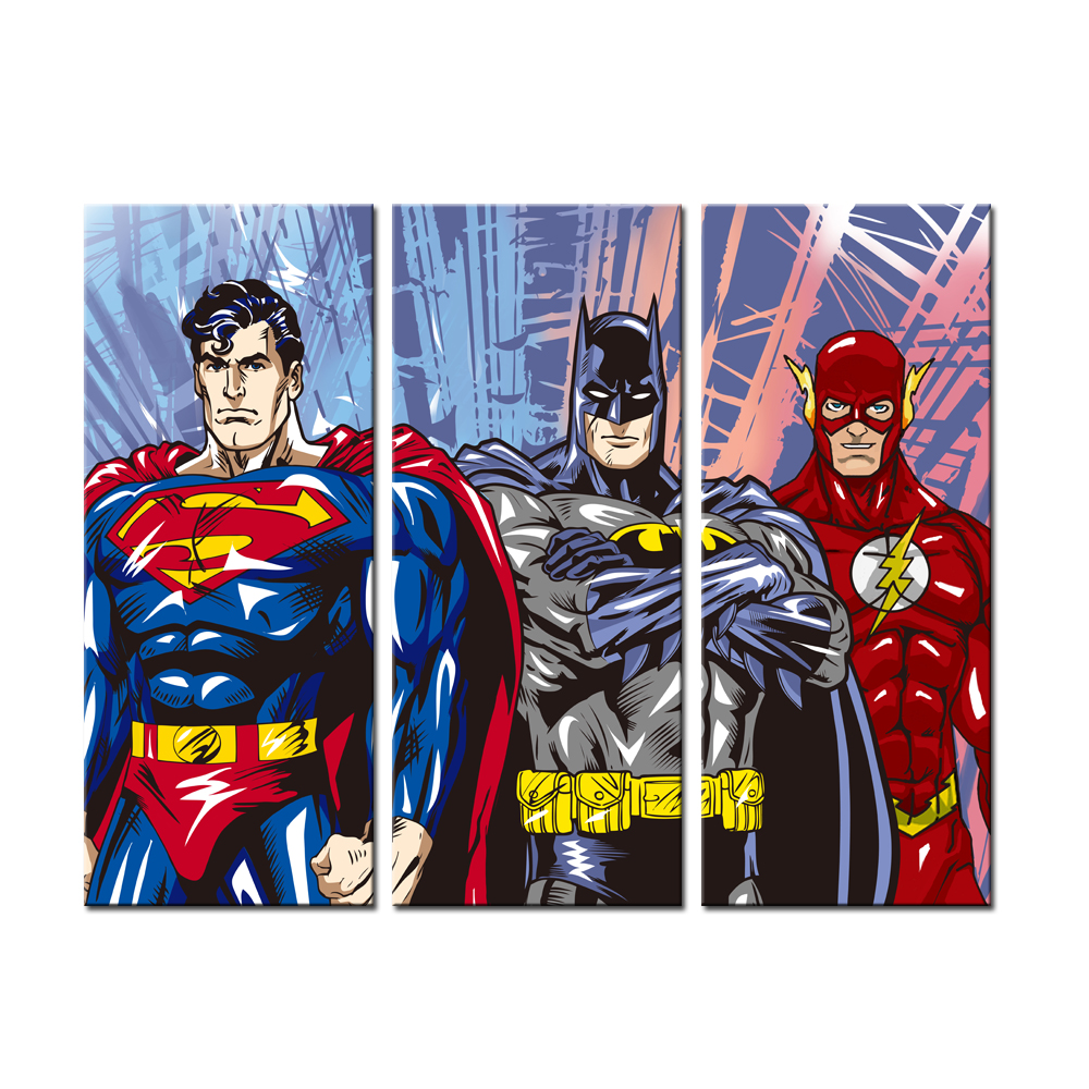 3 Pieces Canvas Painting Superhero Modern Home Wall Decor Canvas Art - Home Decor - Photo 1