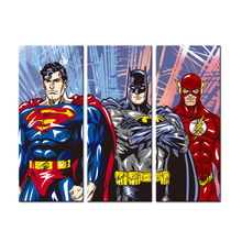 3 Pieces Canvas Painting Superhero Modern Home Wall Decor Canvas Art HD Print Pictures For Child Bedroom Unframed