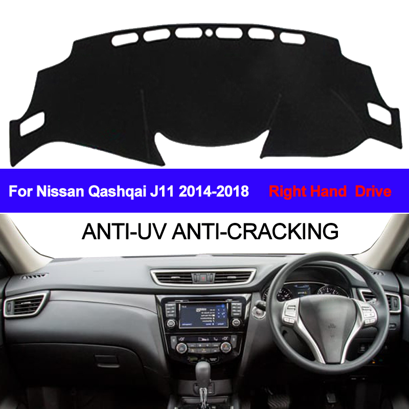 TAIJS For Nissan Qashqai J11 2014 2015 2016 2017 2018 Car Dashboard Cover Dash Mat Sun Shade Pad Carpet Dash Board Anti-UV