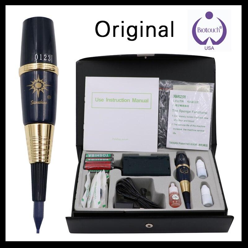 Original 1 Unidades EE. UU. biotouch sol de la máquina del tatuaje kit de maquillaje permanente kit de máquina para las cejas y labios con arma del tatuaje aguja
