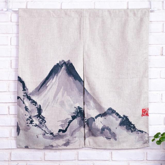 vintage katoen linnen deur gordijnen traditionele chinese wassen paintiing prints home decoratieve opknoping gordijnenkamer