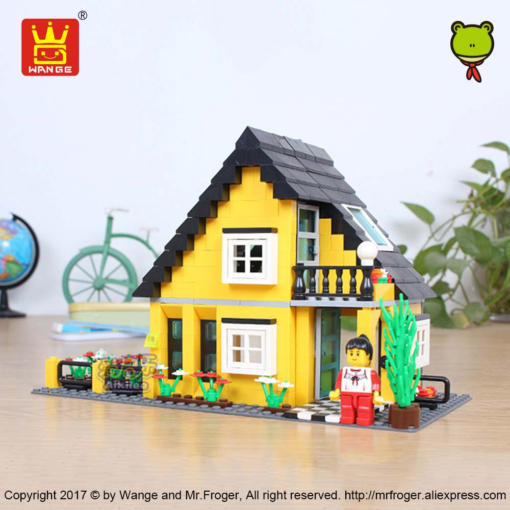 WANGE Building Blocks Compatible Bricks Architecture Toys for Children Gift Kids Assembly Toys Educational House Villa Model DIY