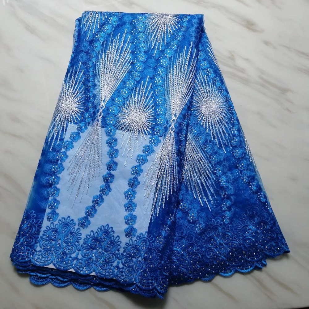 2019 Hot Selling African  Lace Fabric Nigerian French Tulle Lace With Sotnes High Quality Bridal Fabrics Material Party Dress 2019 Hot Selling African  Lace Fabric Nigerian French Tulle Lace With Sotnes High Quality Bridal Fabrics Material Party Dress