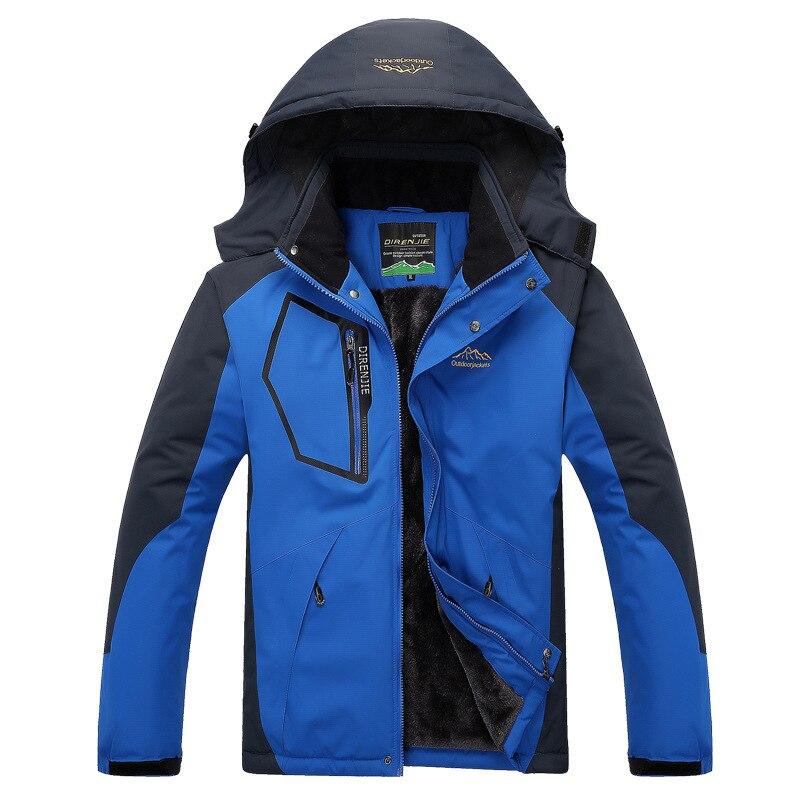 Winter   Down   Jacket   Coat   Men Thermal   Down   Parkas Velvet Jacket Outwear Men Windproof Waterproof Windbreaker Jaqueta Plus Size 5XL