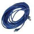 50FT RJ45 CAT5 CAT5E Сети Ethernet Lan Router Соединительный Кабель Шнур Синий 15 М Оптовая